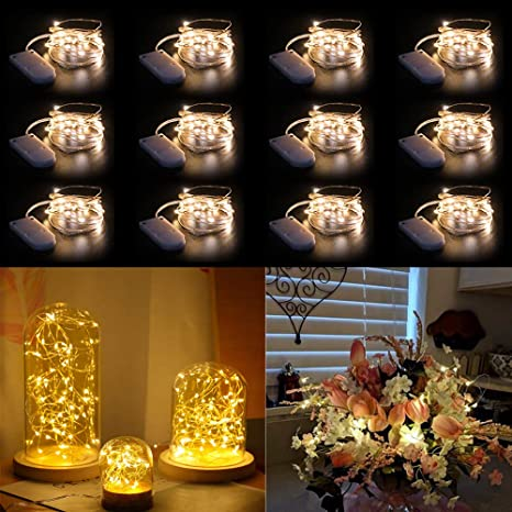 Details about  /2M 20LED String Fairy Lights Battery Garden Wedding Party Christmas Decoration
