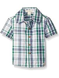 c632fc5d Burt's Bees Baby Baby Boys' Organic Plaid Button Down Collar Shirt