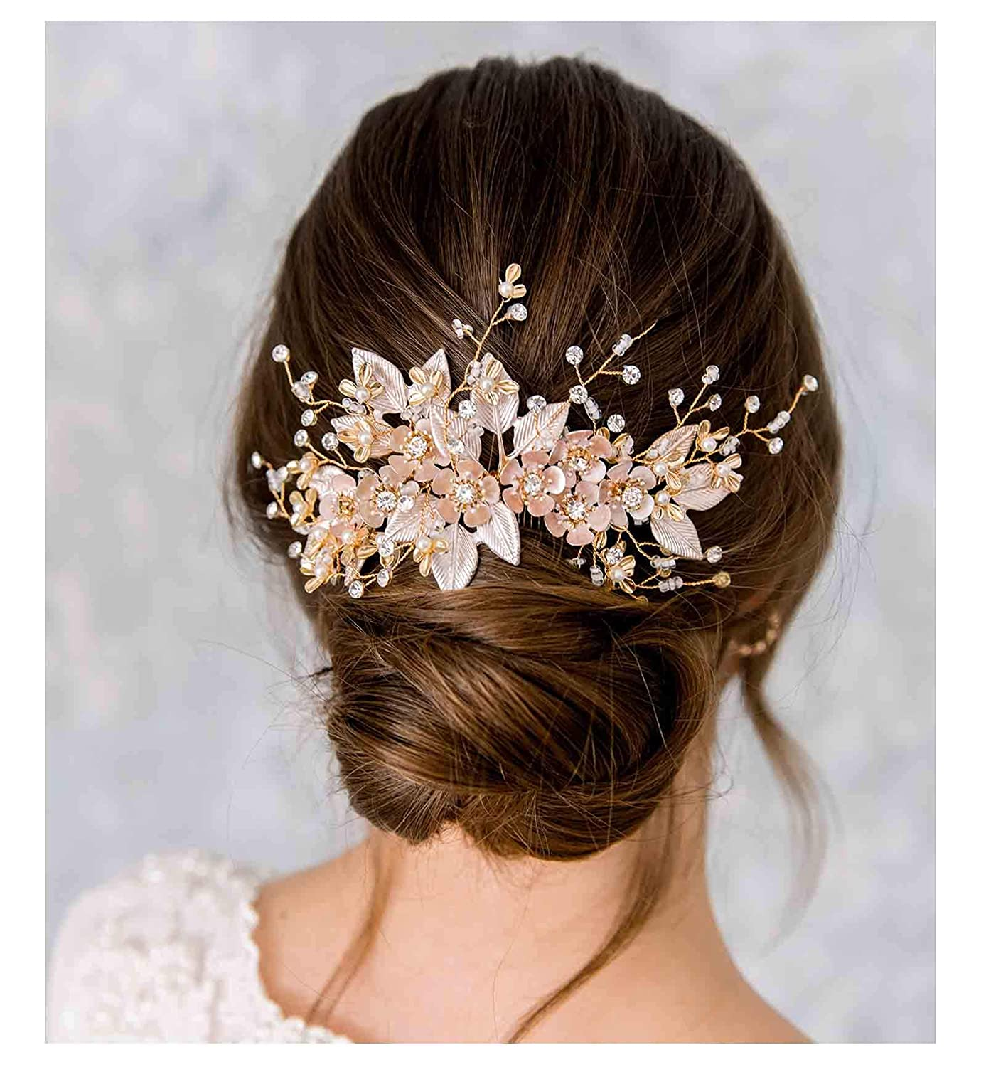 Lily of the valley hair comb,decorative hair comb bridesmaid Hair Accessories,wedding Flower Bridal comb Succulent comb