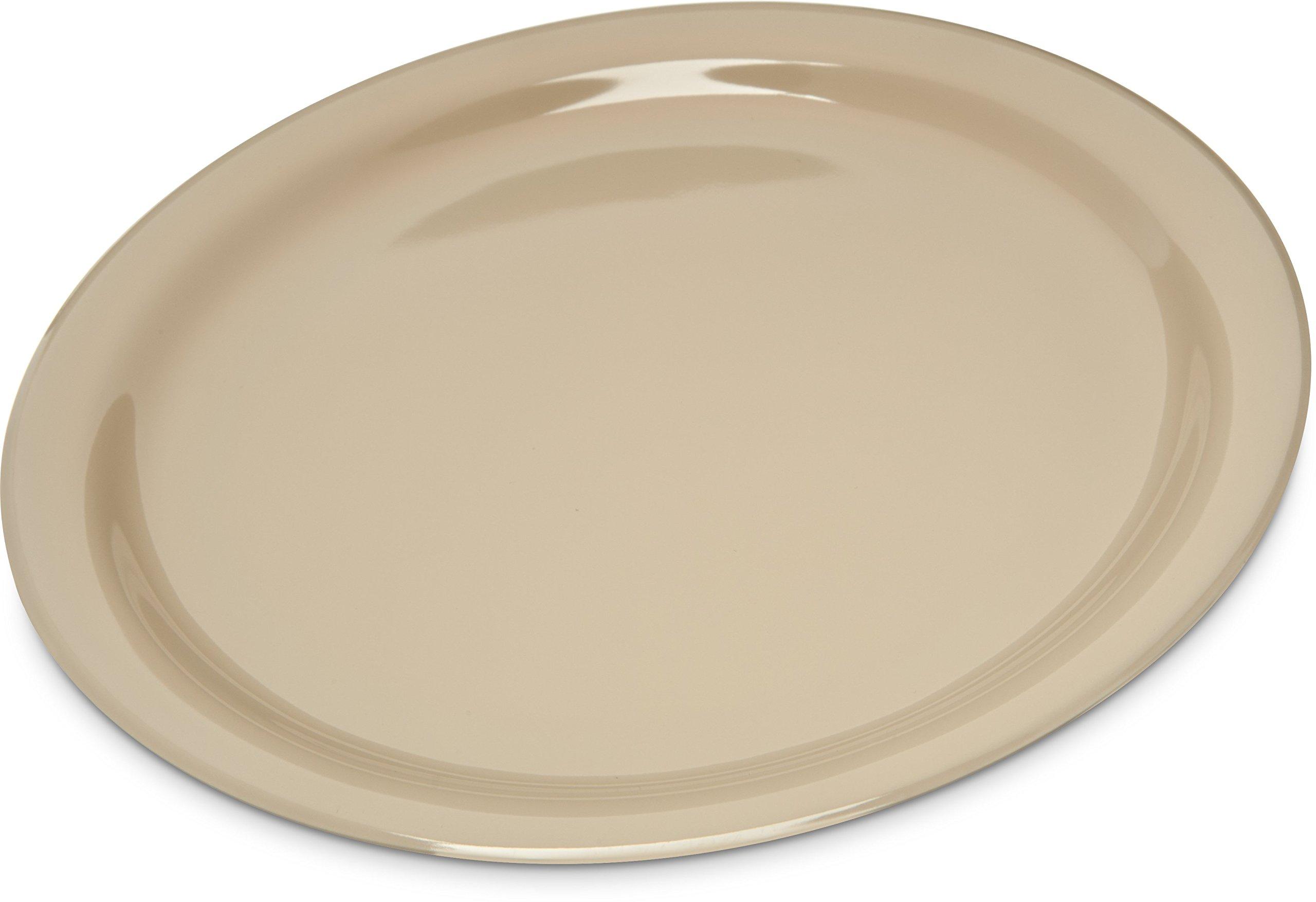 Carlisle KL20025 Kingline Melamine Dinner Plate, 8.92'' Diameter x 0.77'' Height, Tan (Case of 48)