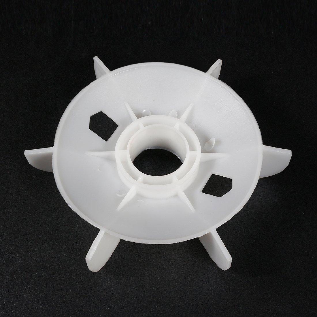 28mm Runde Welle Ersatz Kunststoff 6 Laufradmotor Ventilator Schaufel sourcing map 1stk 150
