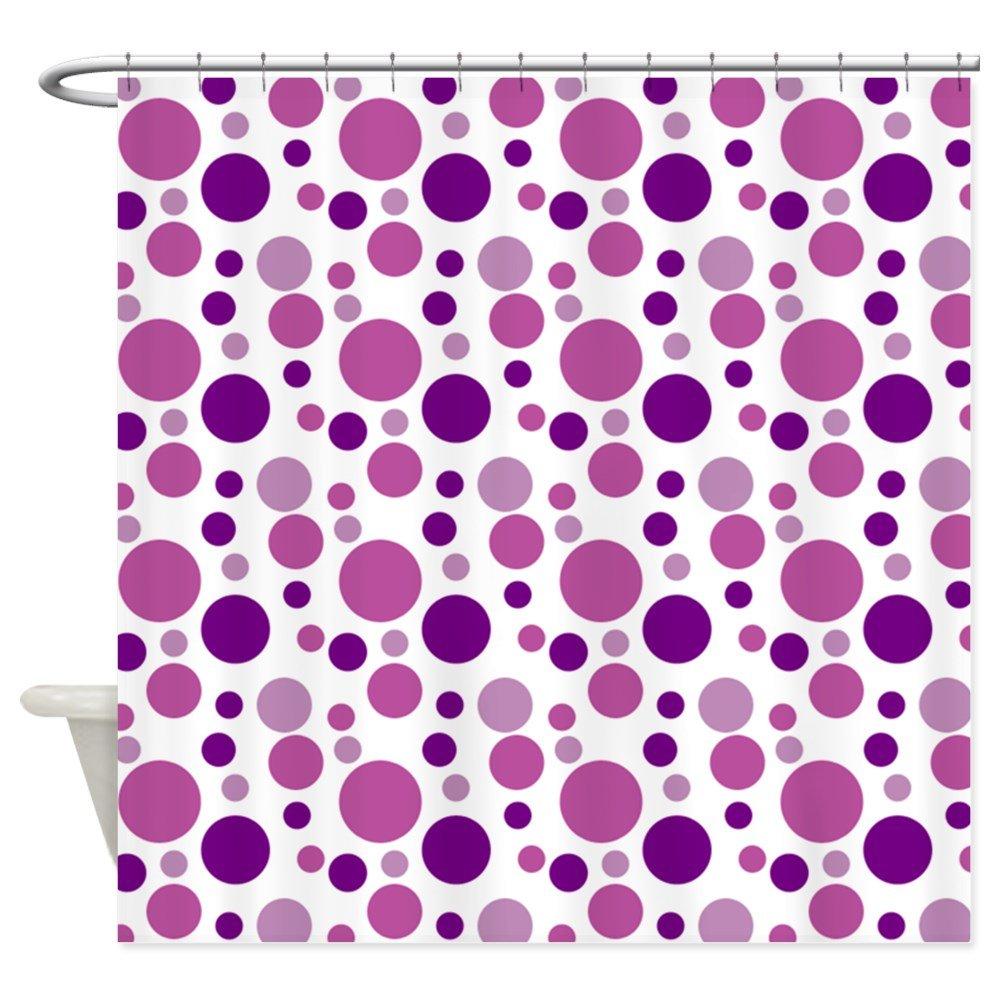 Purple polka dot curtains - Amazon Com Cafepress Fun Purple Bubbles Shower Curtain Decorative Fabric Shower Curtain Home Kitchen