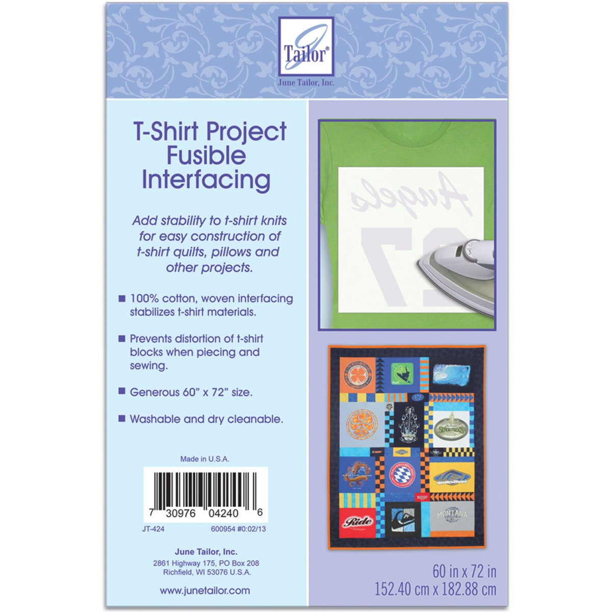 T-Shirt Project Fusible Interfacing 60X72-White