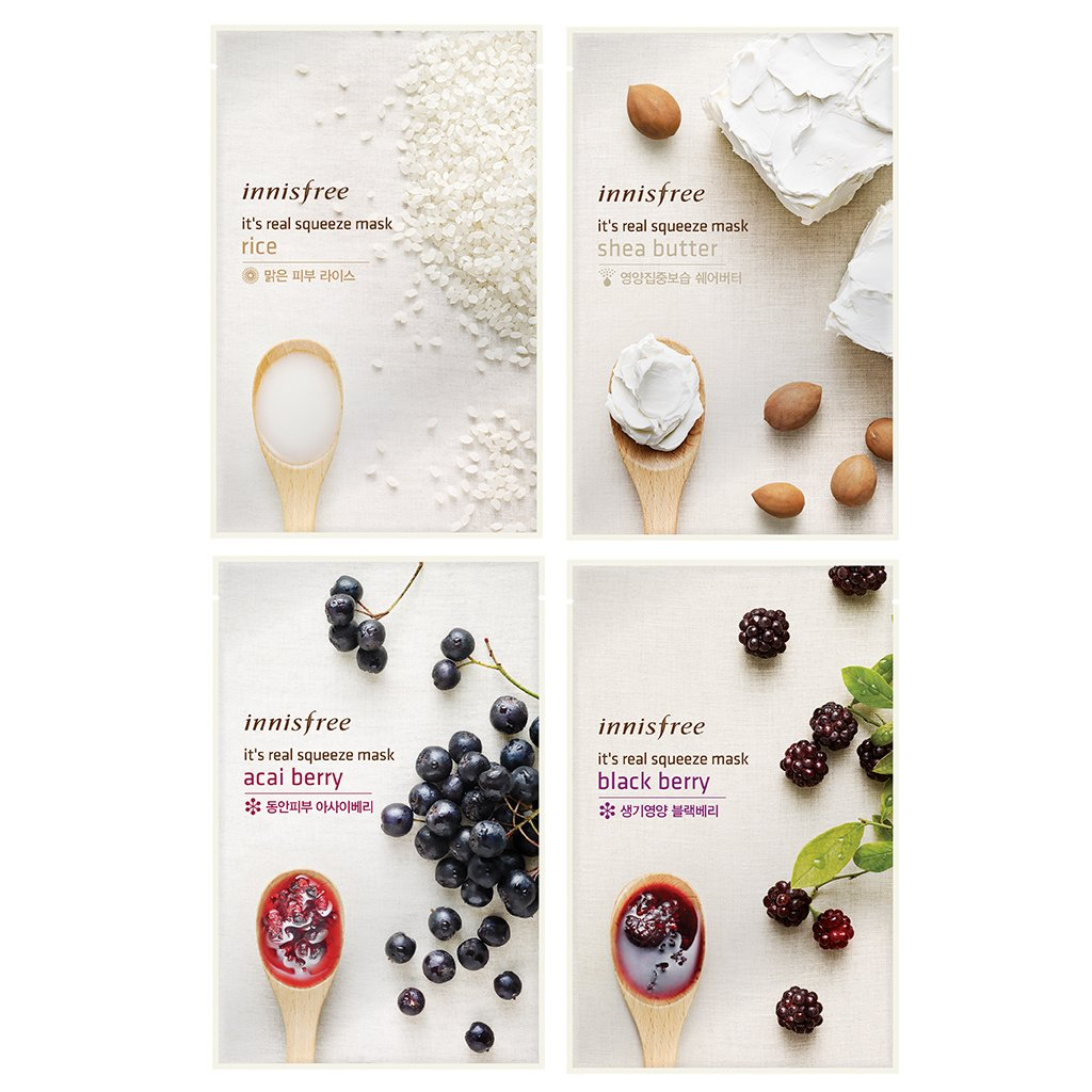 Buy Innisfree Its Real Squeeze Mask Sheet Variety Set 16 Sheets Bija 20ml Online At Low Prices In India