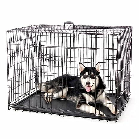 4 Pets Big plegable jaula mascota perro de metal negro alambre ...