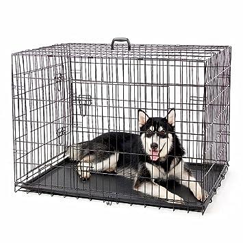 4 Pets Big plegable jaula mascota perro de metal negro alambre Puppy Crate Maleta de caseta 2 puertas 5 Tamaños: Amazon.es: Productos para mascotas