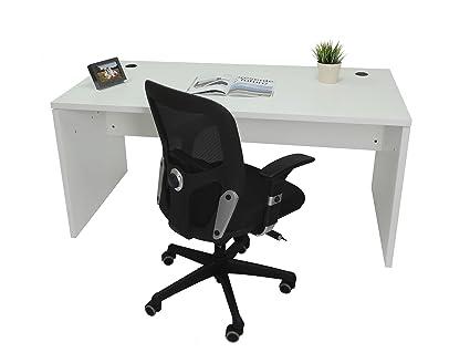 Mesa de Oficina. Euro 2000. Color Blanco. 180x80 cm: Amazon.es: Hogar