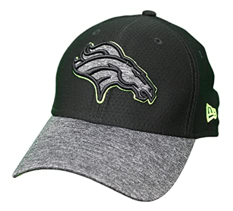 b1204680 Amazon.com : New Era Denver Broncos NFL 39THIRTY Popped Shadow Flex Fit Hat  - Black : Clothing