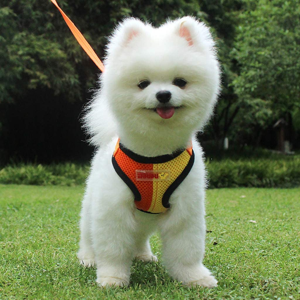 SuperUS Dog Harness No-Pull Pet Harness Adjustable Outdoor Pet Vest 3M Reflective Oxford Material Vest for Dogs Easy Control for Small Medium Large Dogs
