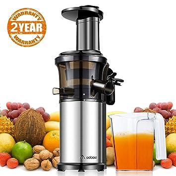 Aobosi Slow Juicer Licuadora para Fruta y Verdura de Prensado en Frio Extractor de Jugos para
