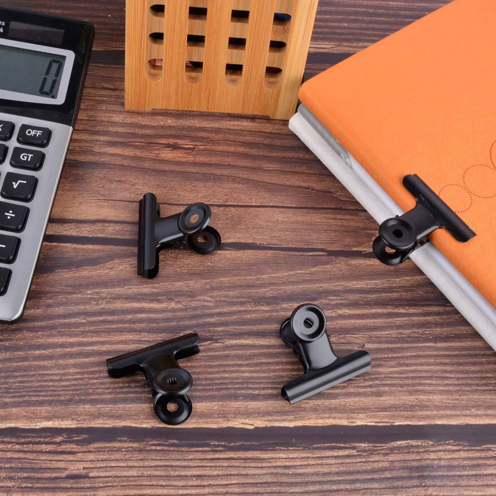 Black, 50mm 2 inch Black Paper Clips Metal Hinge Chip Clip File ...