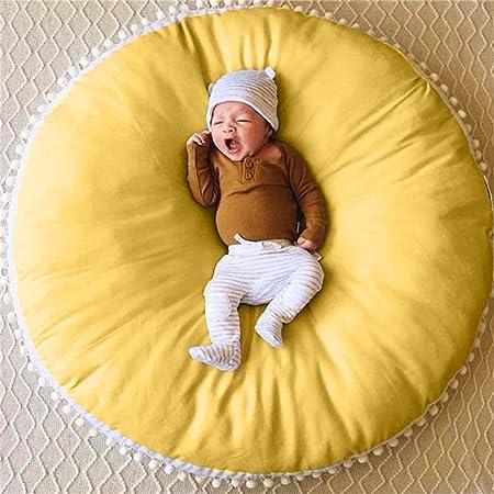 Stangent - Alfombra de algodón Puro para niños, diseño de Gato de bebé, para Decorar la habitación de los niños y Juegos de bebé, Color Amarillo y Gris: Amazon.es: Hogar