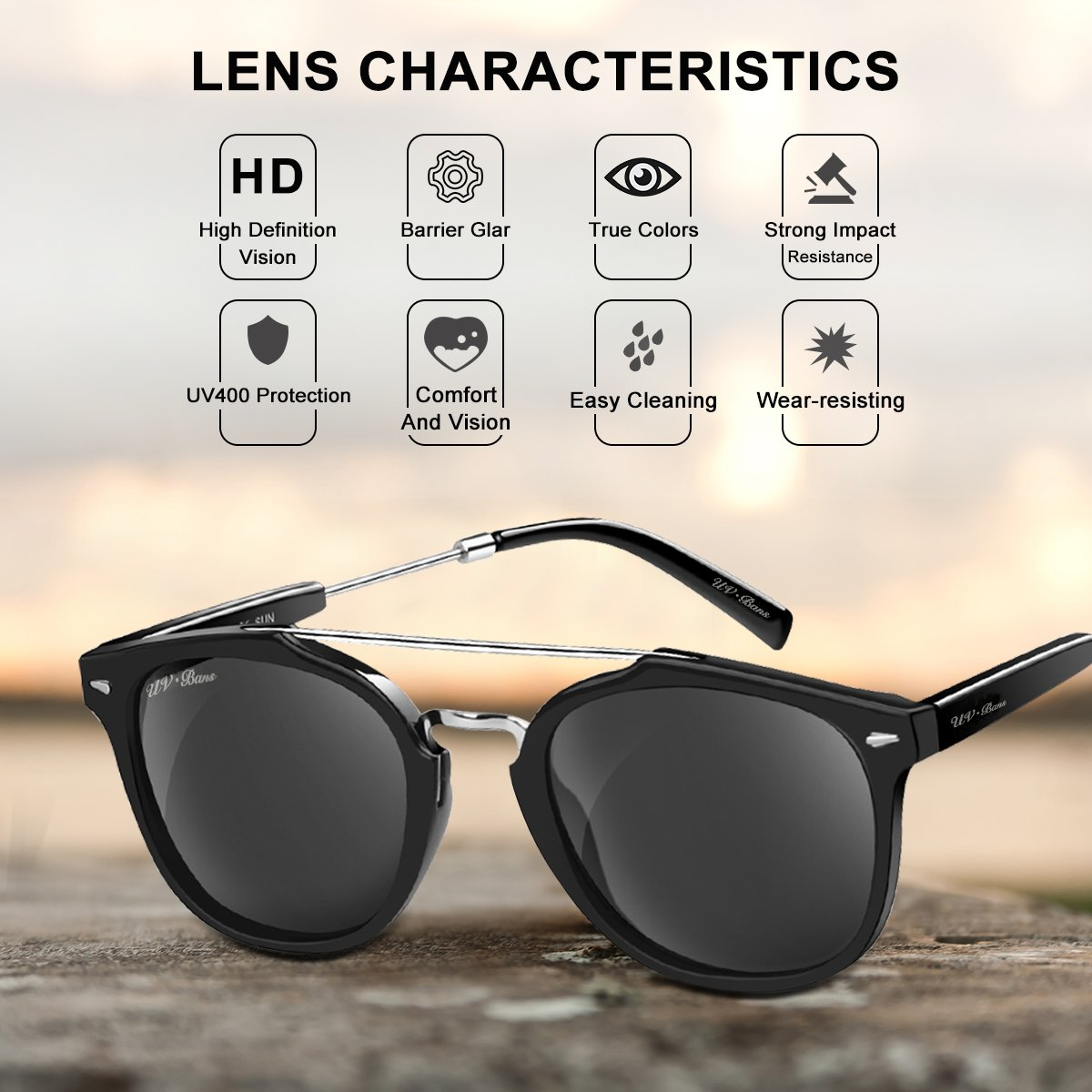 Amazon.com: uv-bans Unisex anteojos de sol polarizadas ...