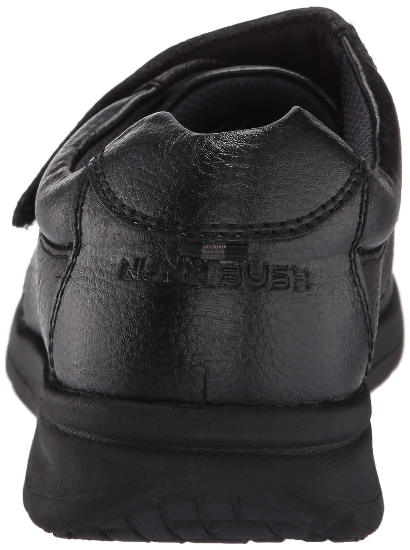 9.5 Wide US Black Tumbled Nunn Bush Men Cam Strap Hook and Loop Casual Loafer Lightweight Slip On