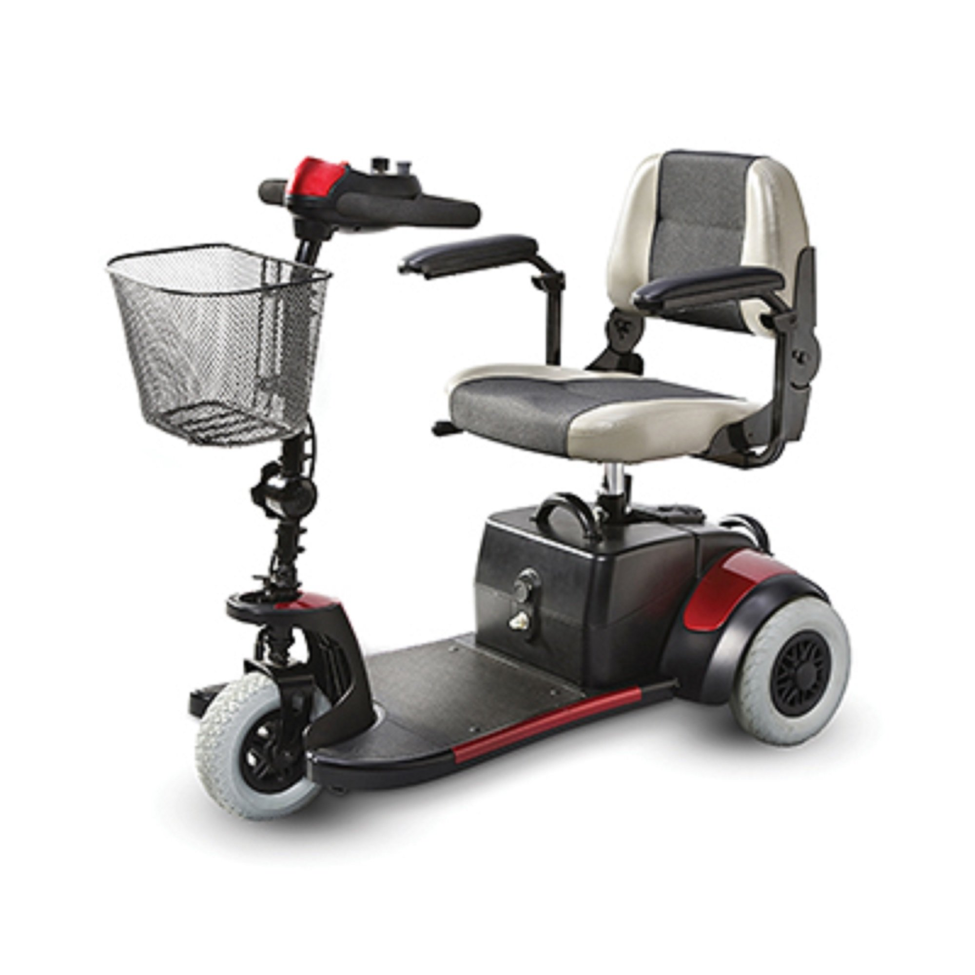 Merits Health Products - Mini Coupe - 3-Wheel Super Micro Electric Scooter - 16.5''W x 15.5''D - Red