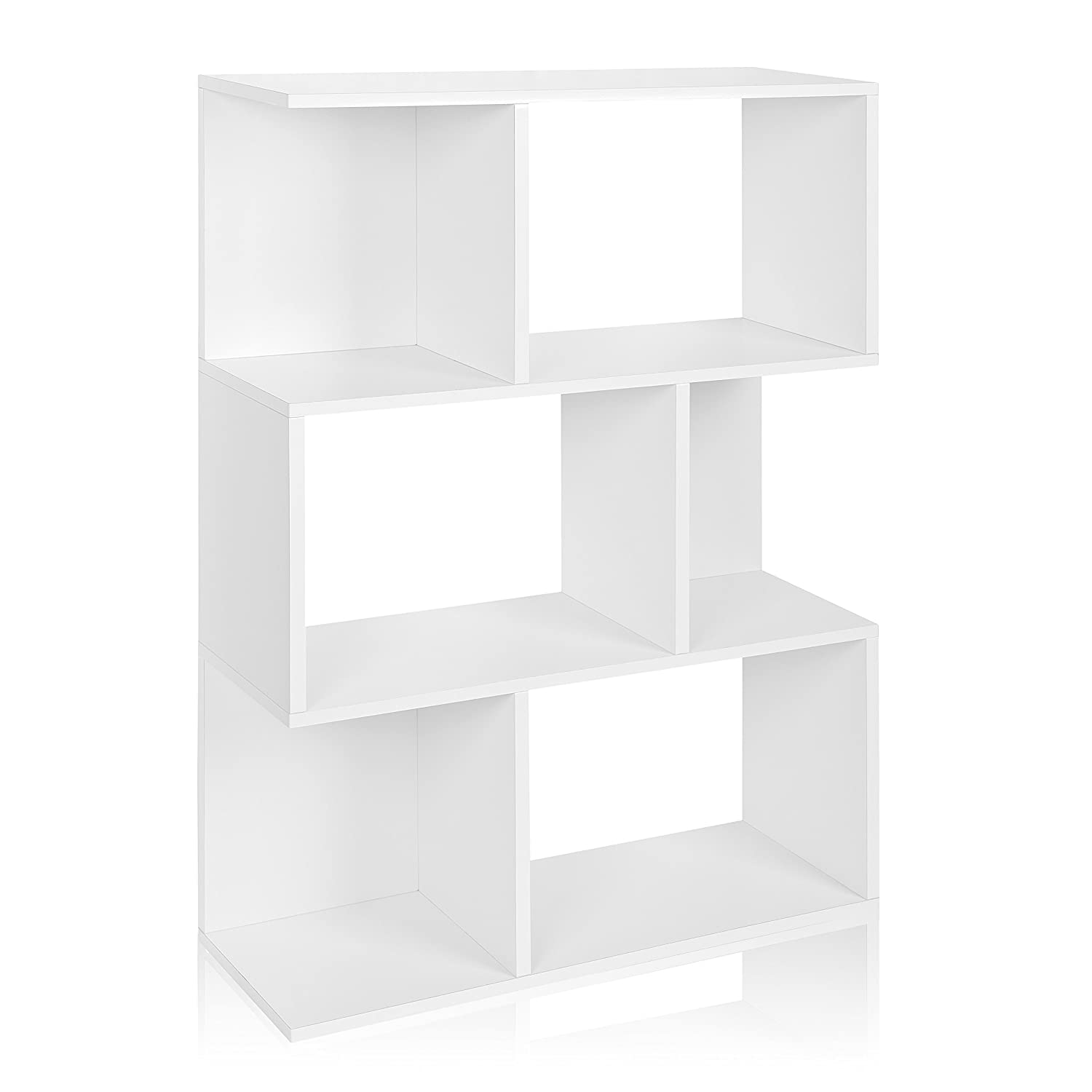 Amazon.com: Way Basics Eco Madison Bookcase, Room Divider And Storage Shelf,  White (made From Sustainable Non Toxic ZBoard Paperboard): Kitchen U0026 Dining