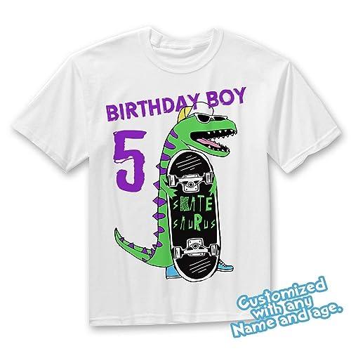 e4daf2d0f Amazon.com: Dinosaur Birthday Shirt - Dino Birthday Boy T-Shirt for Boys:  Handmade