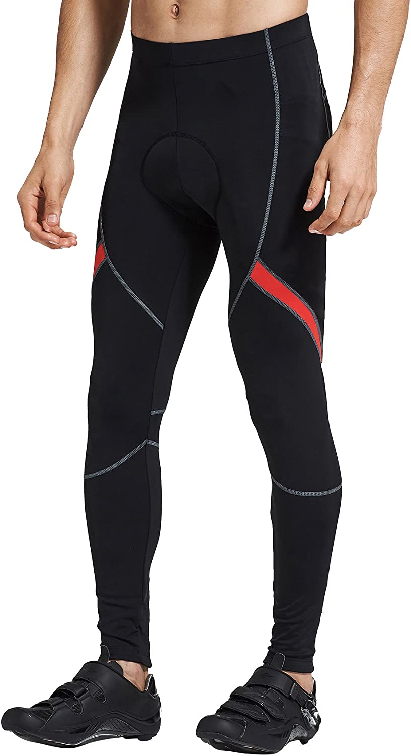 Santic Mens Cycling Bike Pants 4D Padded Long Bicycle Compression Tights Breathable Trousers