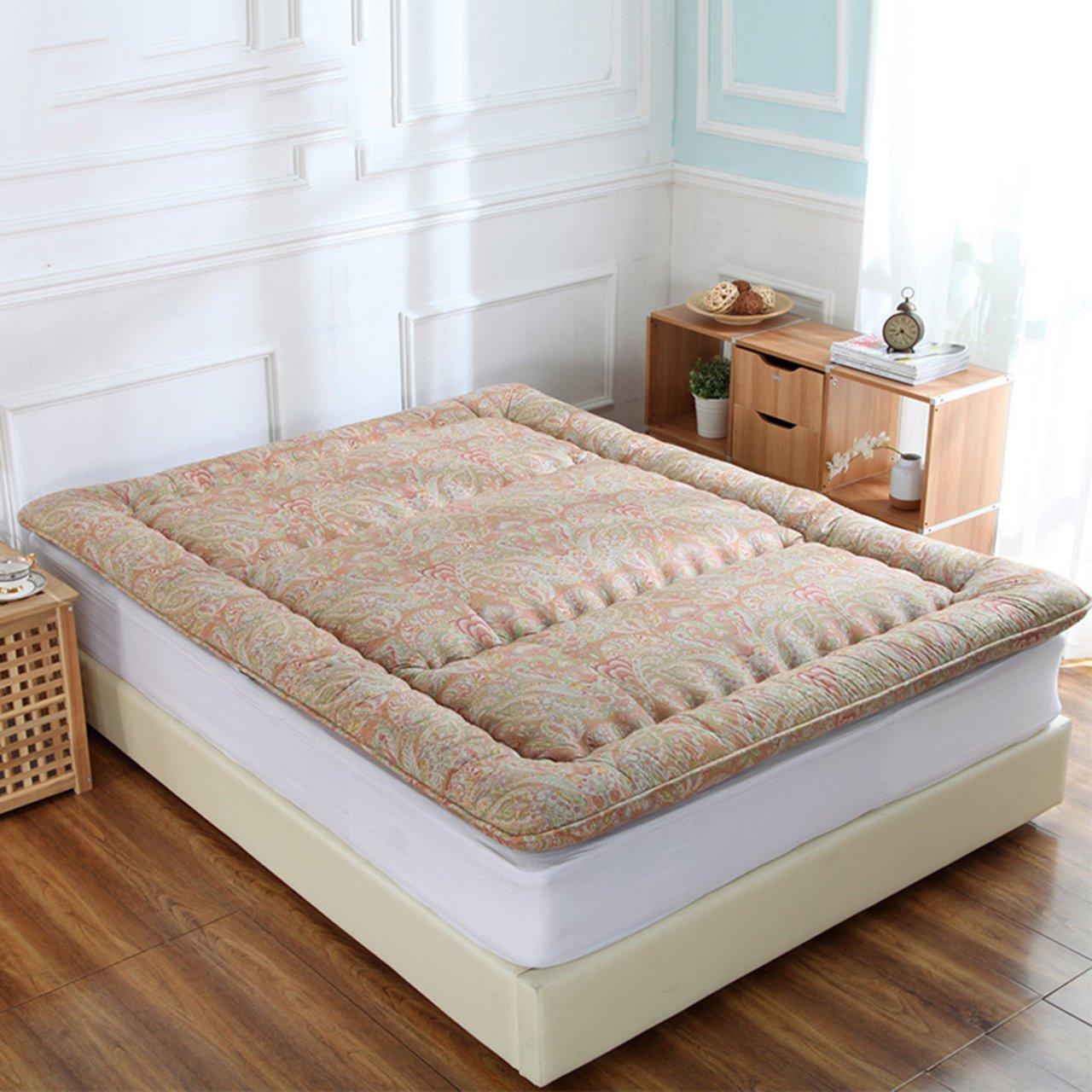 LWXTY Tatami futon-matratze Topper, Faltbare sitzkissen matten halten warm und wasserfest Gesteppte tragbare pad kriechenden isomatte-A 180x200cm(71x79inch)