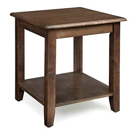 VASAGLE End Real Legs, Simple Rustic Side Table with Storage Shelf, Easy Assembly, for Living Room, Entryway, Wood Grain Brown ULET14CB, 17.7 L x 17.7 W x 19.7 H 45 x 45 x 50 cm Dark Walnut