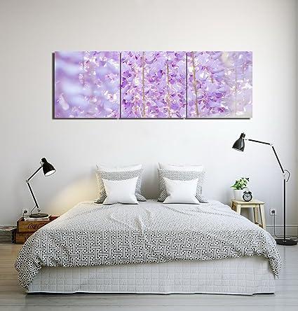 Piante,fiori,glicine,viola_Moderno Pittura a olio Stampa foto su ...