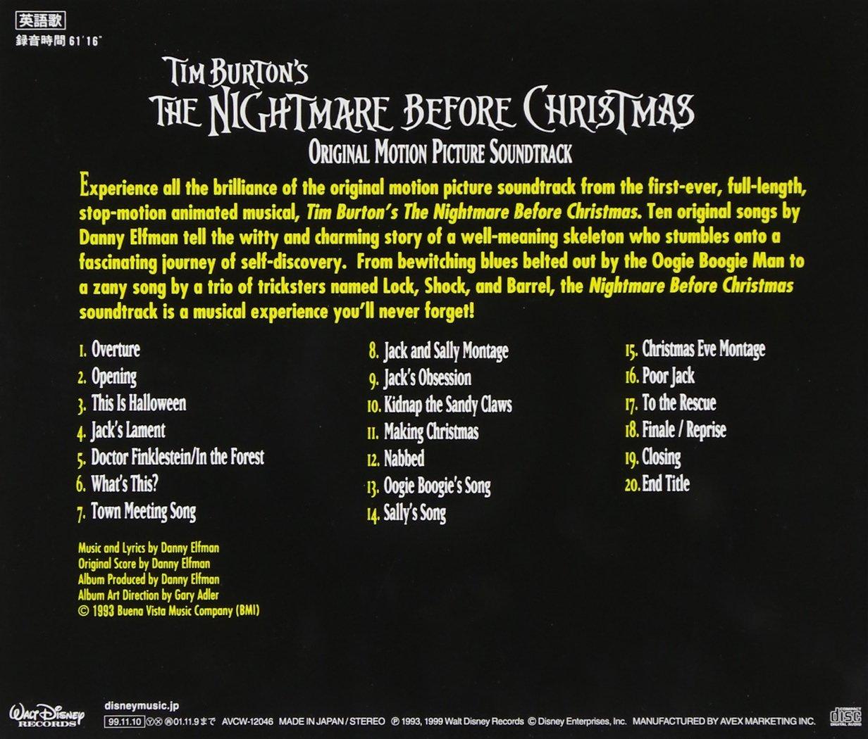 Nightmare Before Christmas, Various Artists - Tim Burton\'s The ...