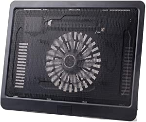 "Laptop Cooling Pad 10""-14"" Cooler Pad Chill Mat 1 Fans LED Lights and USB 2.0 Ports Mounts Laptop PC Notebook Stand Pad Portable"