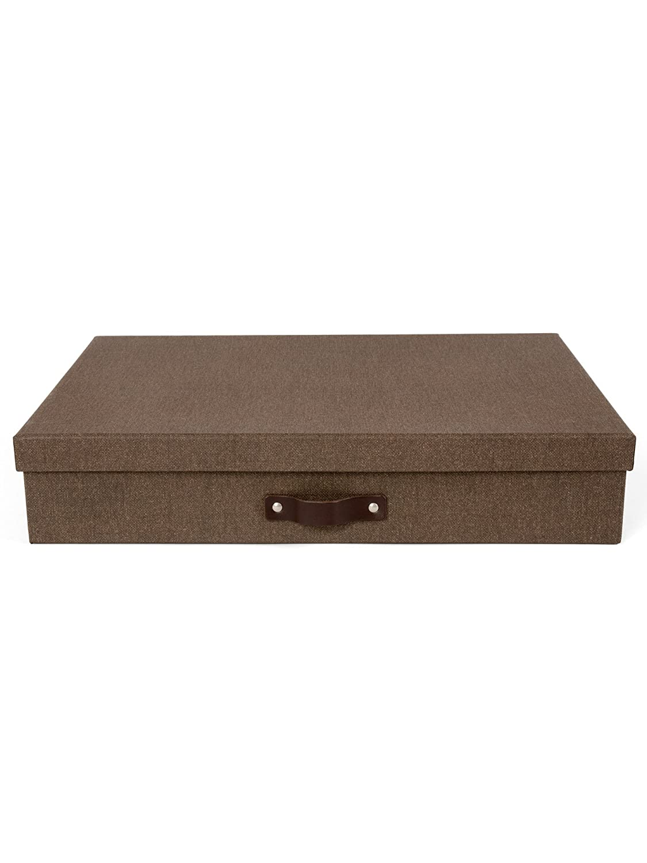 Bigso Box of Sweden 9341C4843Aufbewahrungsbox im A3-Format, Faserplatte, Dunkelbraun, 31x 43,5x 8,5cm 31x 43 5x 8 5cm Bigso AB