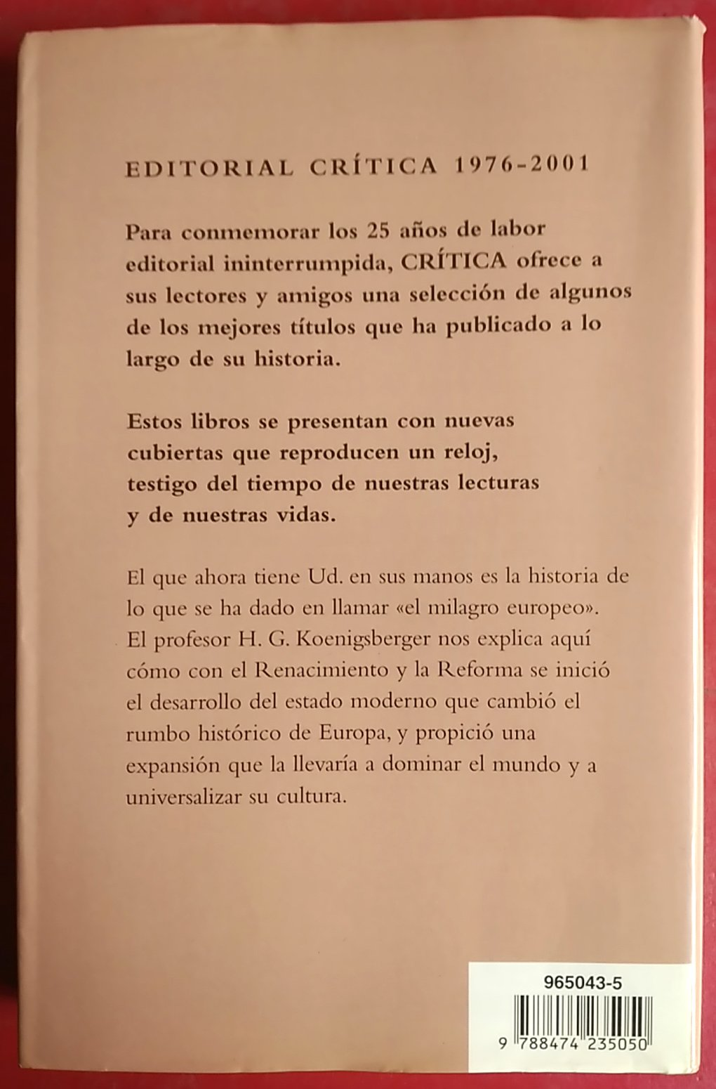 Historia de Europa - El Mundo Moderno 1500-1789 (Spanish Edition): H. G. Koenigsberger: 9788474235050: Amazon.com: Books