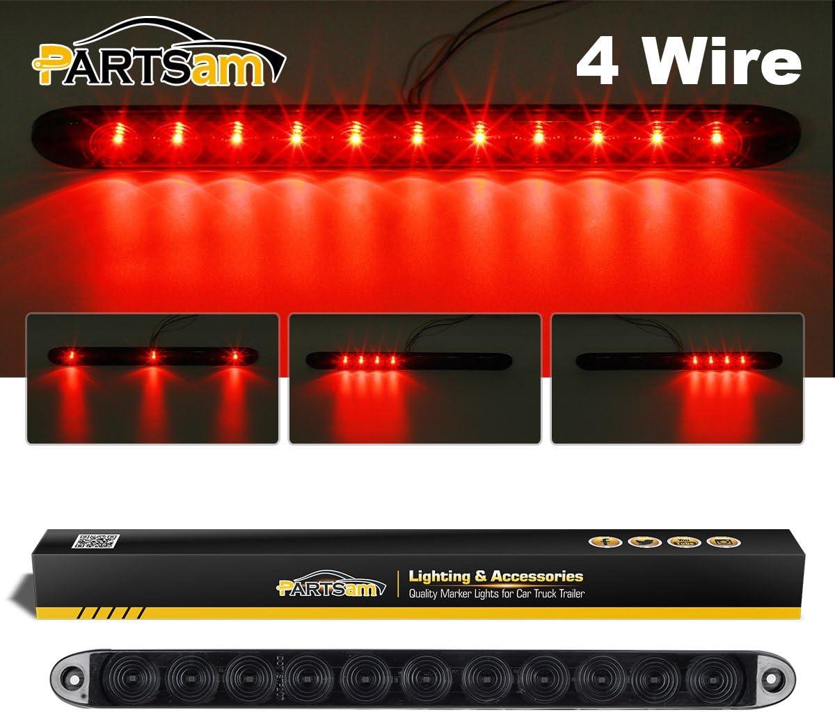 "1 Truck Trailer LED ID bar w// reverse White light 11 LED Submersible 15/"" USA"