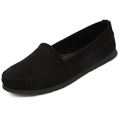 Suetar-SKT Mocasines de Ante Elegantes de Las Mujeres Zapatos de Planos Casual Simple de Mujer Adecuado para la Primavera Verano y otoño: Amazon.es: Zapatos ...