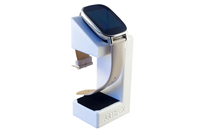 ASUS ZenWatch 2 Stand, Artifex Charging Dock Stand for ZenWatch2, New 3D Printed Technology, Smartwatch Cradle (ZenWatch2 White)