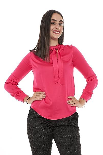 Manila Grace - Camisas - Manga larga - para mujer fucsia Small