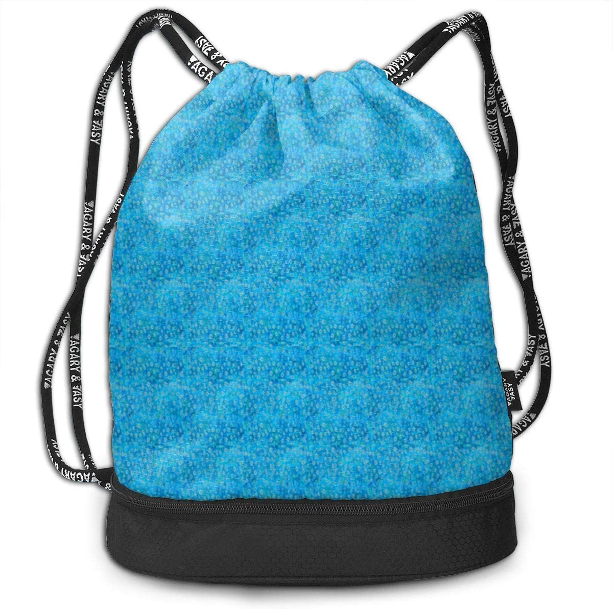 Blue Daisies Drawstring Backpack Sports Athletic Gym Cinch Sack String Storage Bags for Hiking Travel Beach