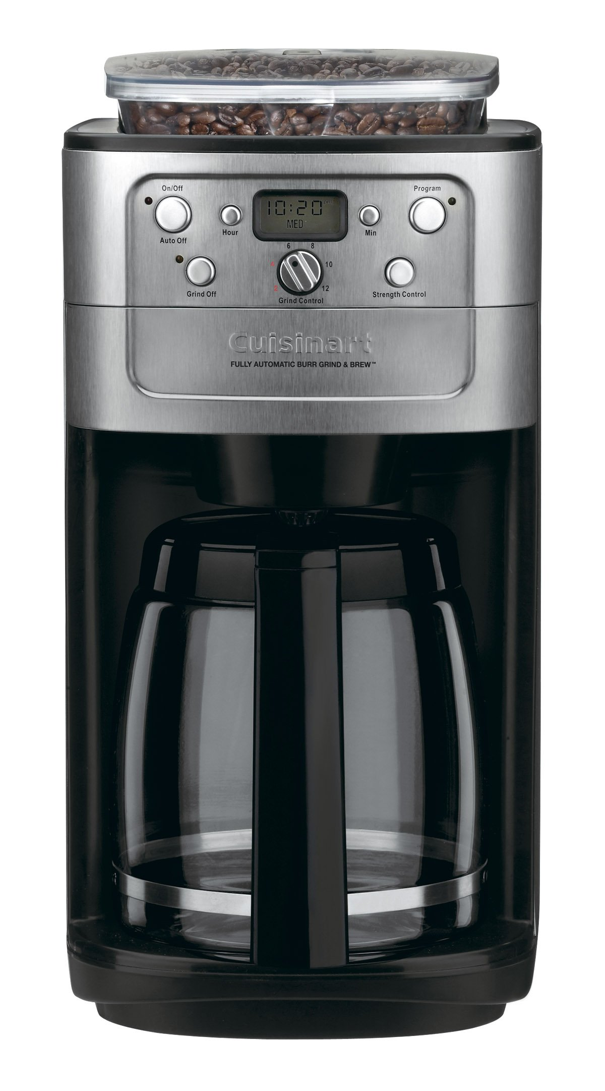Conair Cuisinart Grind & Brew DGB-700BC 12 Cup Coffeemaker (Black/Brushed Chrome) by Cuisinart