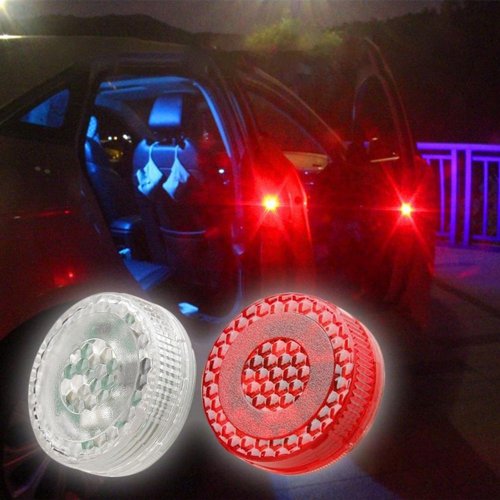 Auto Tü r Anti Kollisions Magnetische Induktion LED-Licht Strobe-Lampe Wasserdichte Tü r offen Warnleuchte, 2 Stü ck 未知品牌