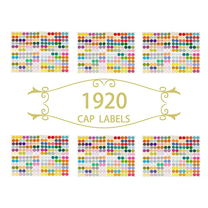 1d52a34940db Amazon.com: LiangGui Essential Oil Bottle Stickers Label Clothing ...