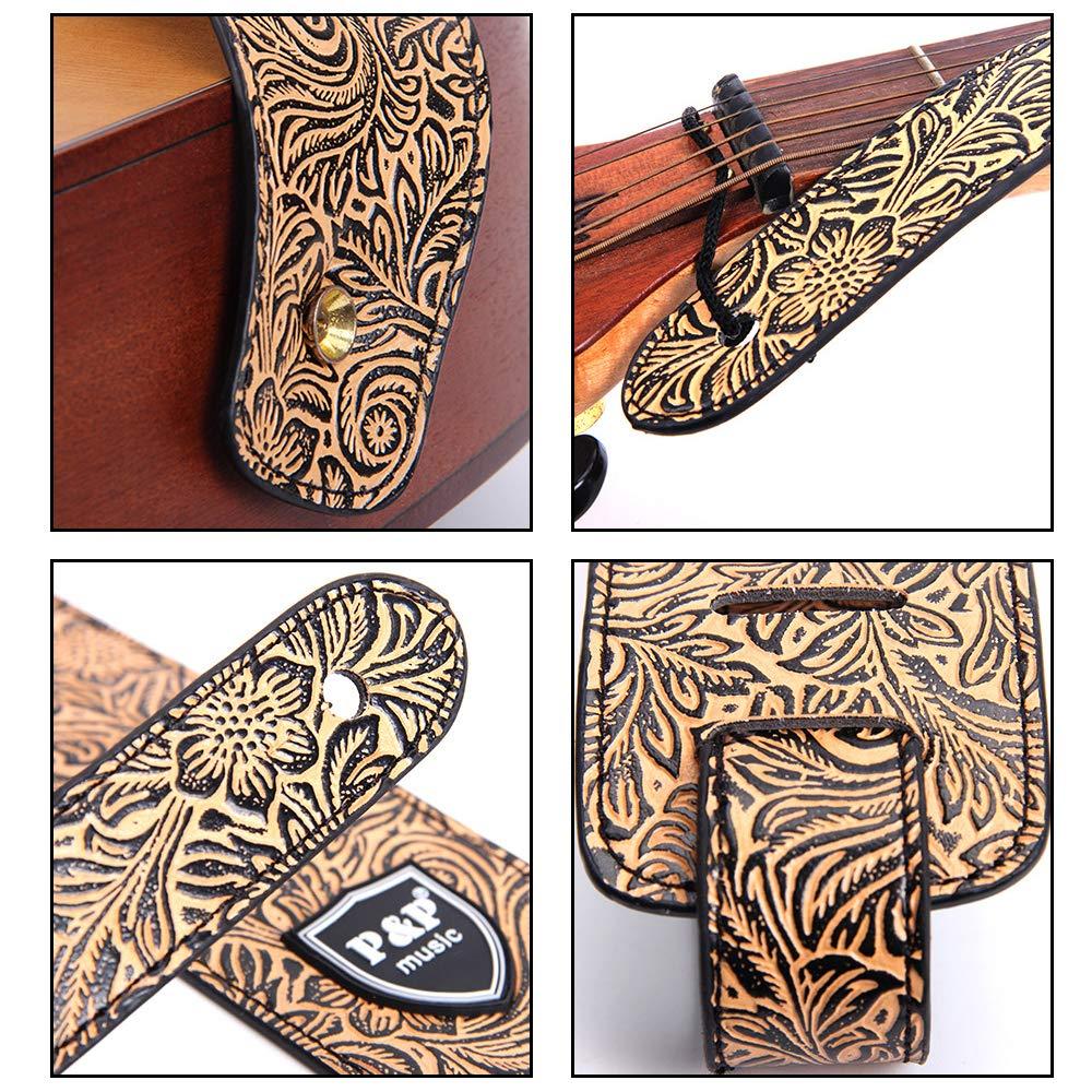 Kalaok Partes de guitarra Widen Guitarras eléctricas Correa en relieve Cuero PU Correa de guitarra acústica Correas para bajo: Amazon.es: Instrumentos ...