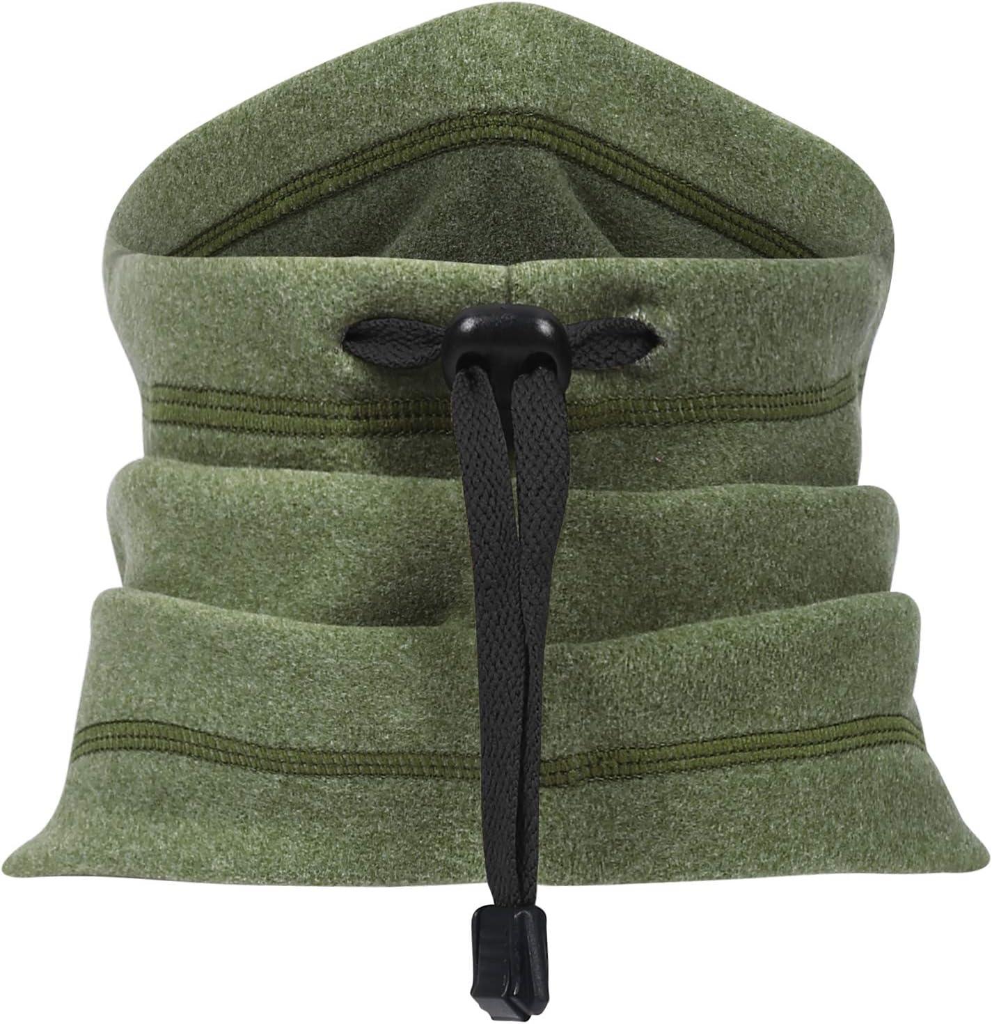 Arcweg Neck Warmer Drawstring Elastic Thermal Soft Windproof Men Women Breathable Neck Tube Scarf Fleece Universal Unisex Outdoor Neckwear Winter Balaclava Face Mask 11x13Inches