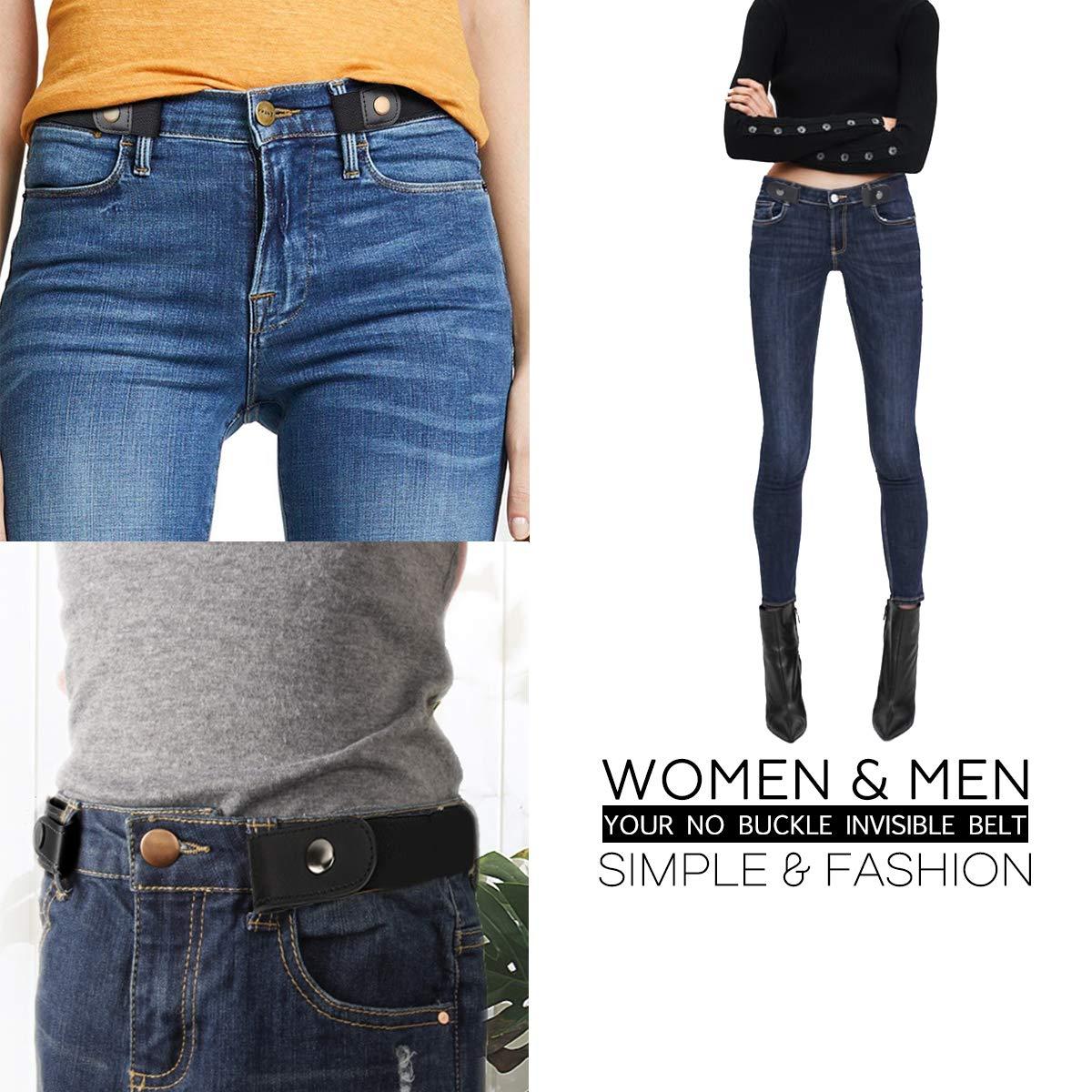 Ceinture sans boucle pour femme1, 25 Pantalon Jeans Ceinture élastique sans  boucle confortable Ceintures taille 9ceee7b147b