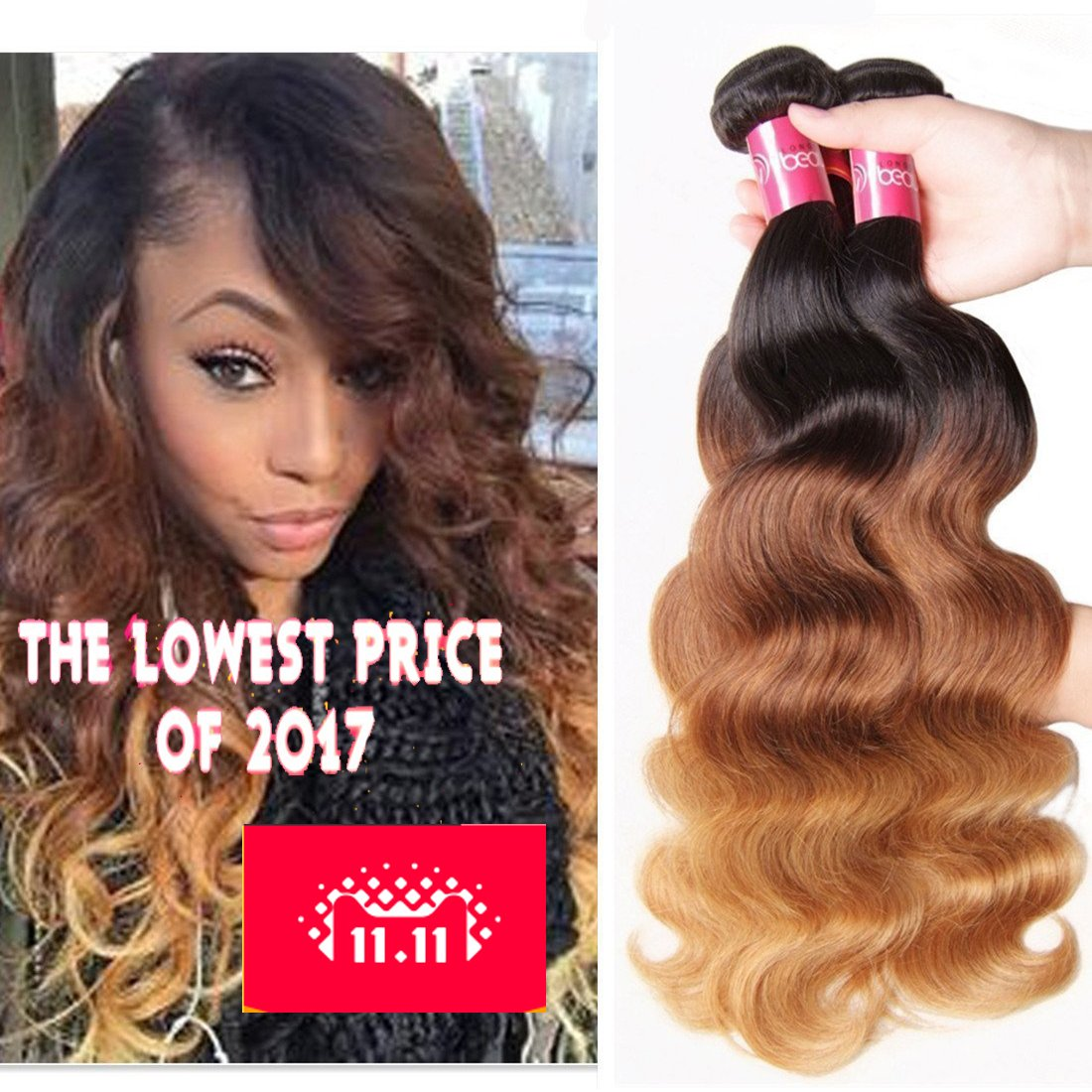 Amazon Sunber Hair Brazilian Virgin Hair Weaves Brazilian