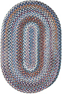 product image for Rhody Rug Augusta Oval Braided Wool Rug (5' x 8') by Blue