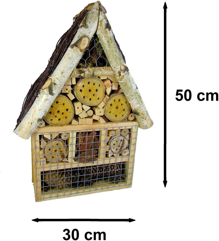 Beste Angebote Casa para Insectos XXL de la Mejor Oferta, casa de Abejas de Madera, cuartel de Invierno, Caja para nidos de Abejas, 50 x 30 x 10 cm