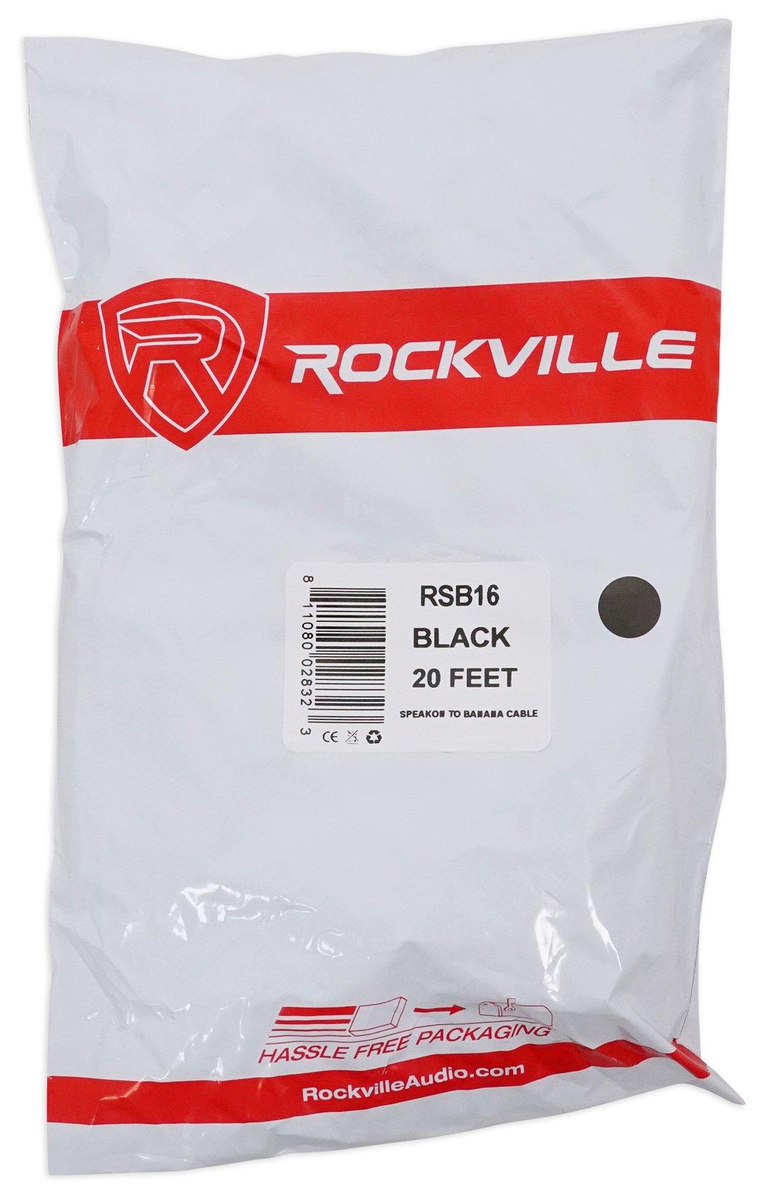 Rockville 20 Foot Speakon to Banana Speaker Cable, 16 Gauge, 100% Copper! (RSB16) by Rockville (Image #6)