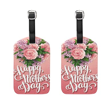 f891f683045b Amazon.com | LEISISI Happy Mother's Day Flower Travel Luggage Tags ...
