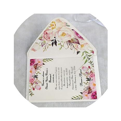 Amazon Com Hot Latest Printing Flora Wedding Invitation