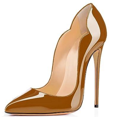 SHOWHOW Damen Spitz Zehe High Heels Slingback Sandalen mit Abstaz Rot 42 EU dONbg6pOU5