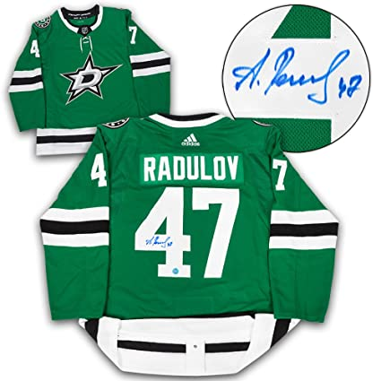 Alexander Radulov Dallas Stars signierte Adidas authentisches Hockey
