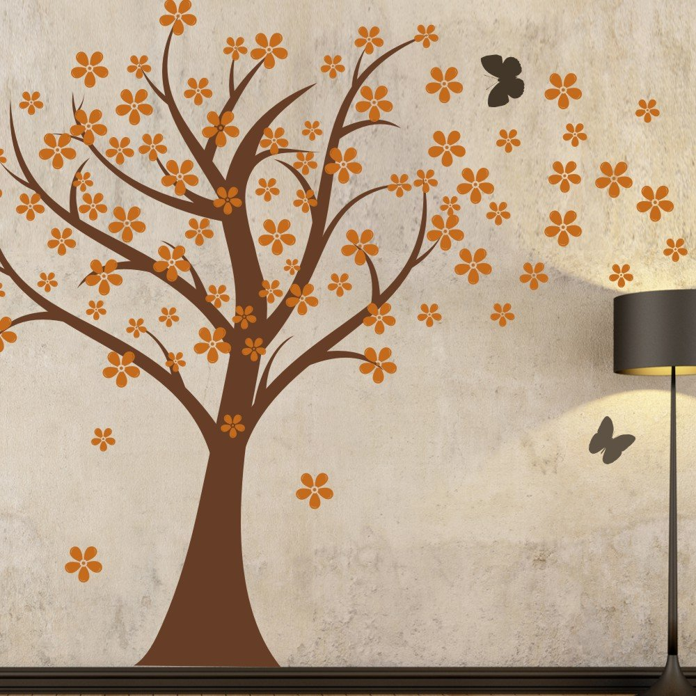 Amazon.com: Cherry Blossom Wall Decals Baby Nursery Tree Decals Kids Flower  Floral Nature Wall Decor Wall Art  Cherry Blossom Tree 2(tree Trunk:Black  ...