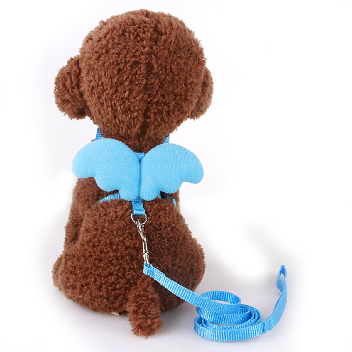 UEETEK Guaina regolabile del cane da cablaggio del cane da compagnia il formato M guinzaglio morbido del gatto del cucciolo con le ali dellananas del guinzaglio le cinghie della cassa per i piccoli cani